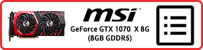 MSI GeForce GTX 1070 Gaming X 8G (8GB GDDR5): Grafikkarten Infobericht 2017
