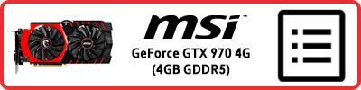 MSI GeForce GTX 970 Gaming 4G (4GB GDDR5): Grafikkarten Infobericht 2015
